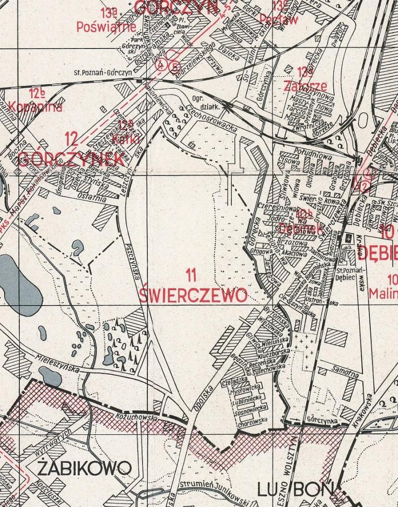 1948 r., kilka lat po włączeniu Świerczewa do Poznania