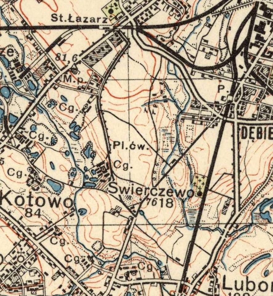 1935 r. Ostatnie lata Świerczewa w gminie Żabikowo.